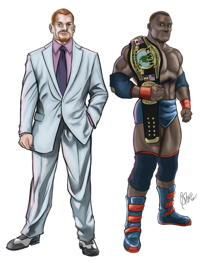 Mr. Luthor and Cassius Claymore Creed, C3-Hero by soonergriff