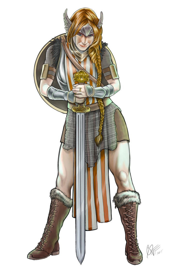 Prima the Shield Maiden Colors by soonergriff