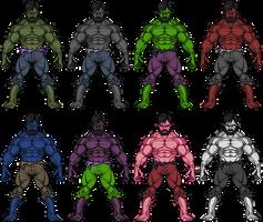 The Hulk Variants by UltimateLomeli