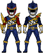 Power Rangers - Death and Navy Ranger by UltimateLomeli