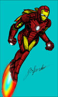 Iron Man Ink Colored