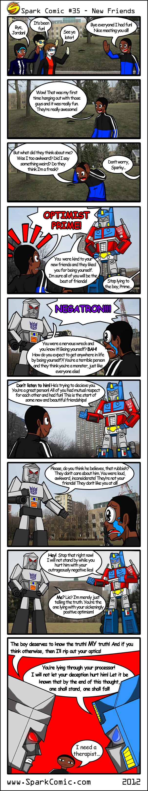 Spark Comic 35 - New Friends by SuperSparkplug