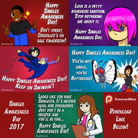 Singles Awareness Day Cards by SuperSparkplug