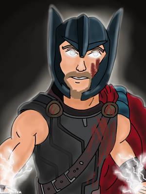 Thor's Ready to Power Up! by CaptainMockingjay