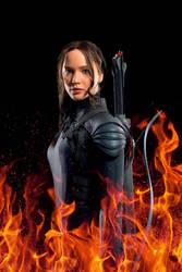 Katniss fire edit by CaptainMockingjay