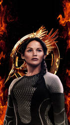 Katniss Catching Fire Wallpaper Edit by CaptainMockingjay