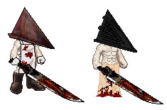 OMG-- MINI PYRAMID HEADS by OxBloodrayne1989xO