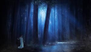 Deep Blue Forest by DeniseWorisch
