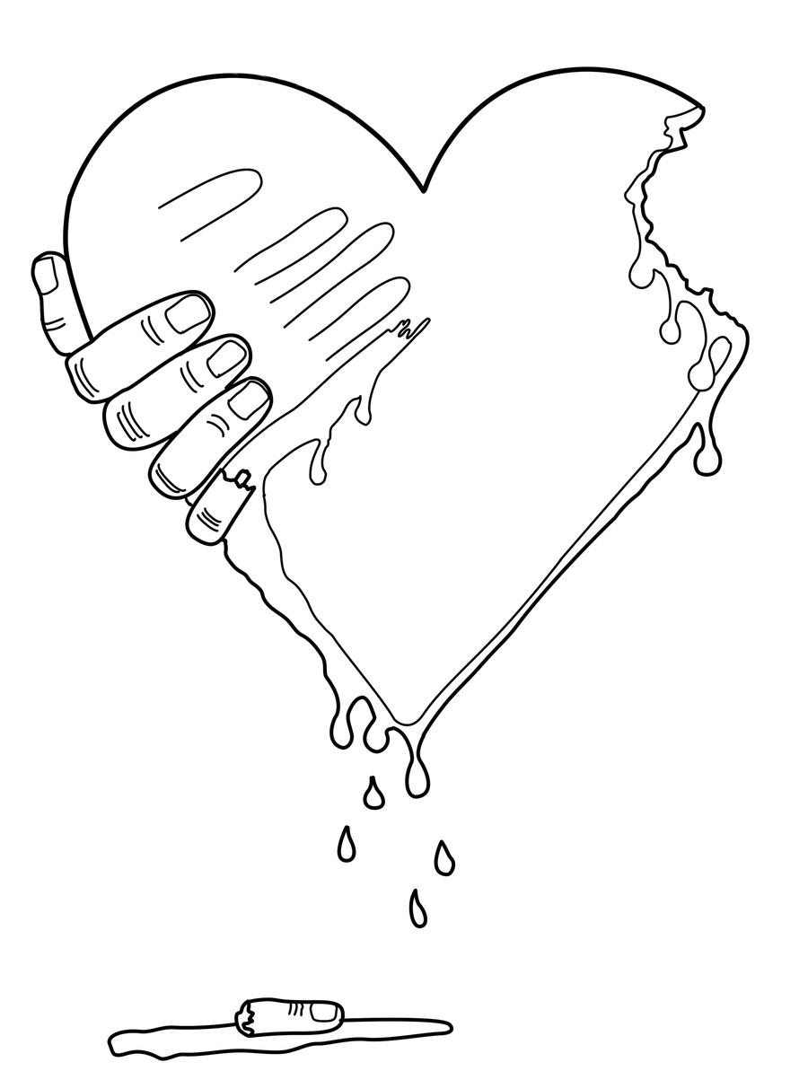 Line Drawing Love : Zombie love line art by coloradogirl on deviantart