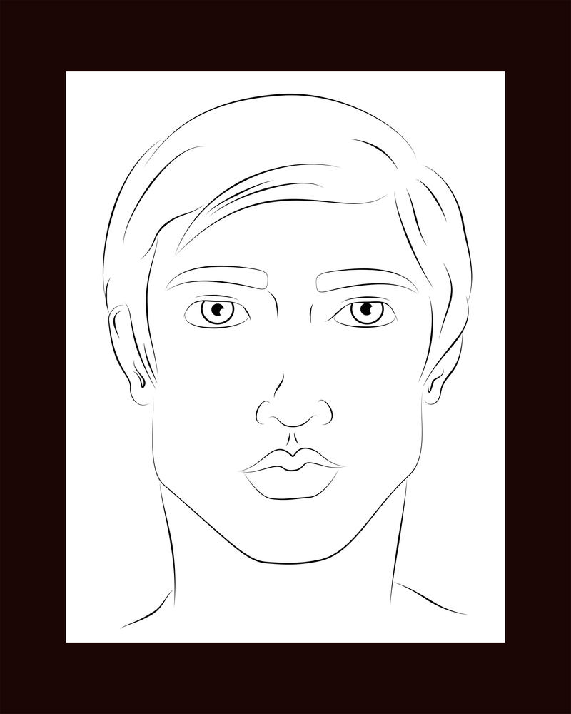 Line Drawing Lips : Line art lips