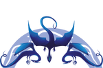 Commision - Logo dragons by Kkohaku