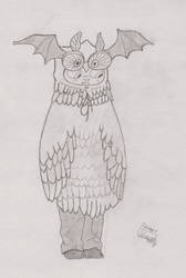 Owlbat - Lackadaisy by UnlicensedBrony