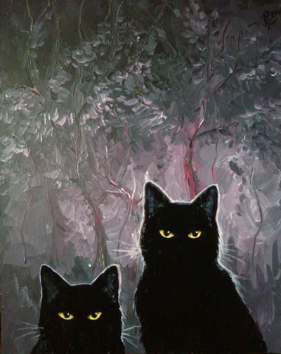 Black cats by Oviot