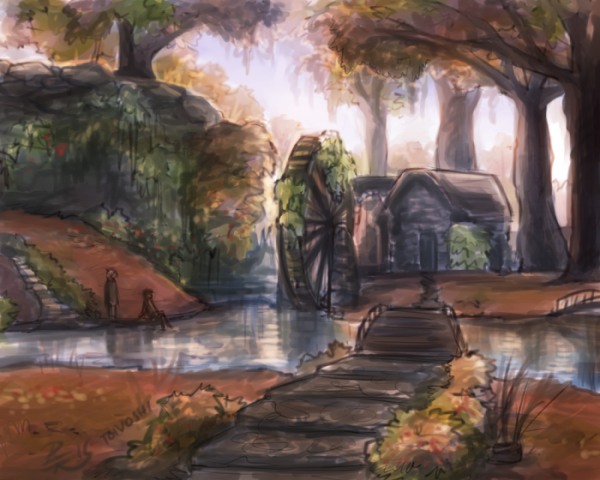 Abandoned watermill by Toivoshi