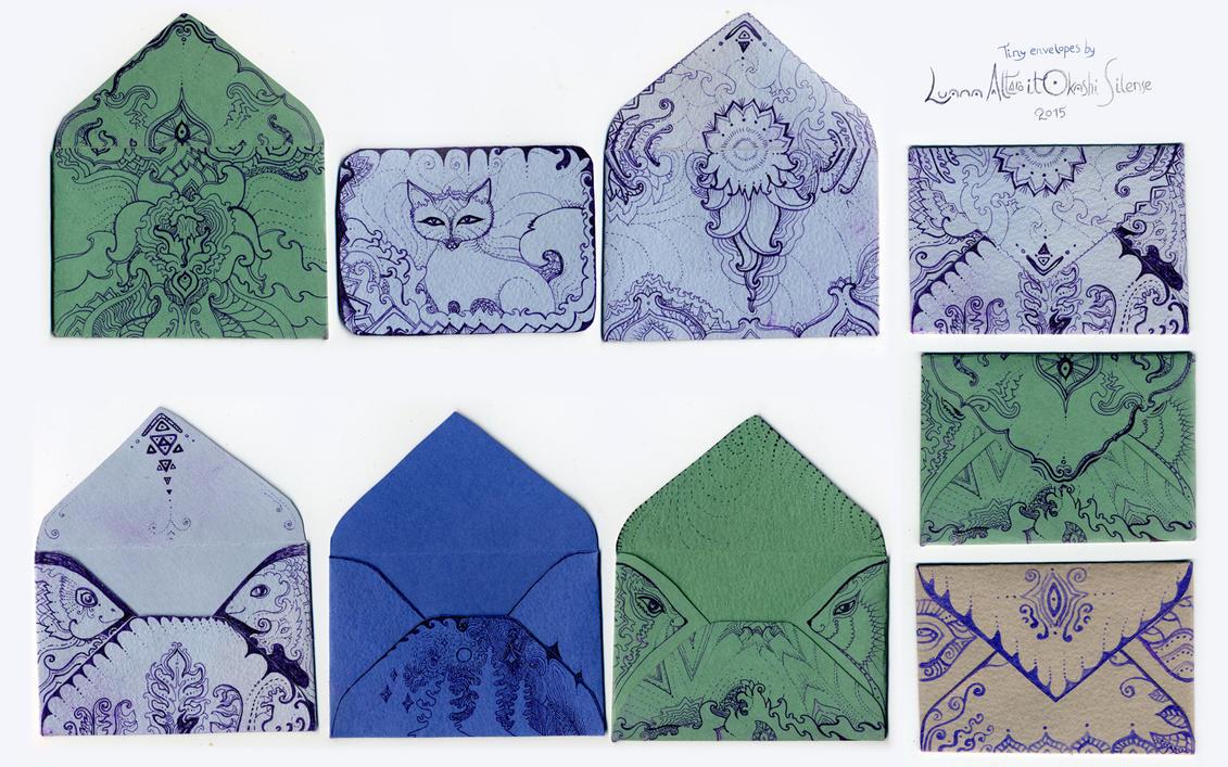 tiny envelopes by itokashi