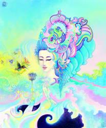 Crystal Blue Hand - Creative Universe Goddess