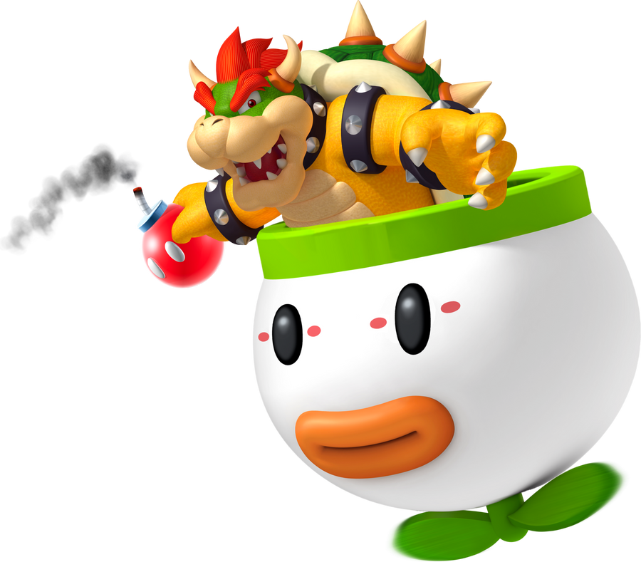 Bowser in Koopa Clown Car by YoshiGo99
