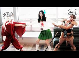 Inuyasha vs Koga - MINE KAGOME by NaomiMoonZ
