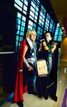 Thor and Loki Avengers Cosplay