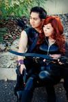 Hawkeye and Black Widow Cosplay
