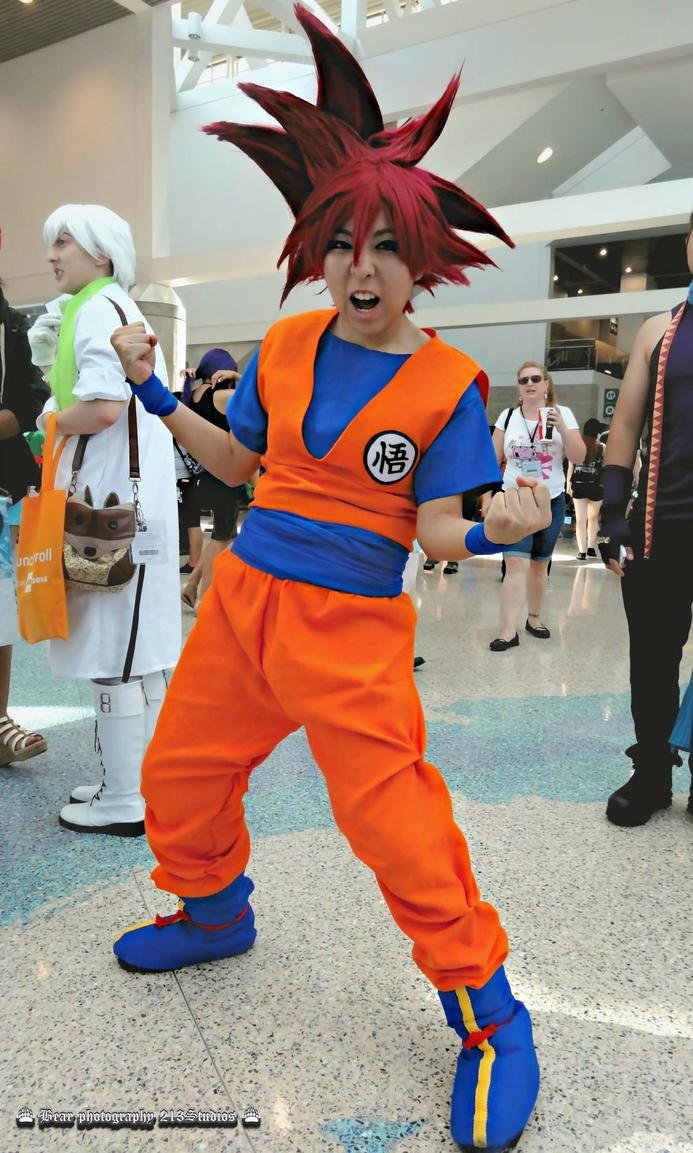 Super Saiyan God Goku by Oniakako