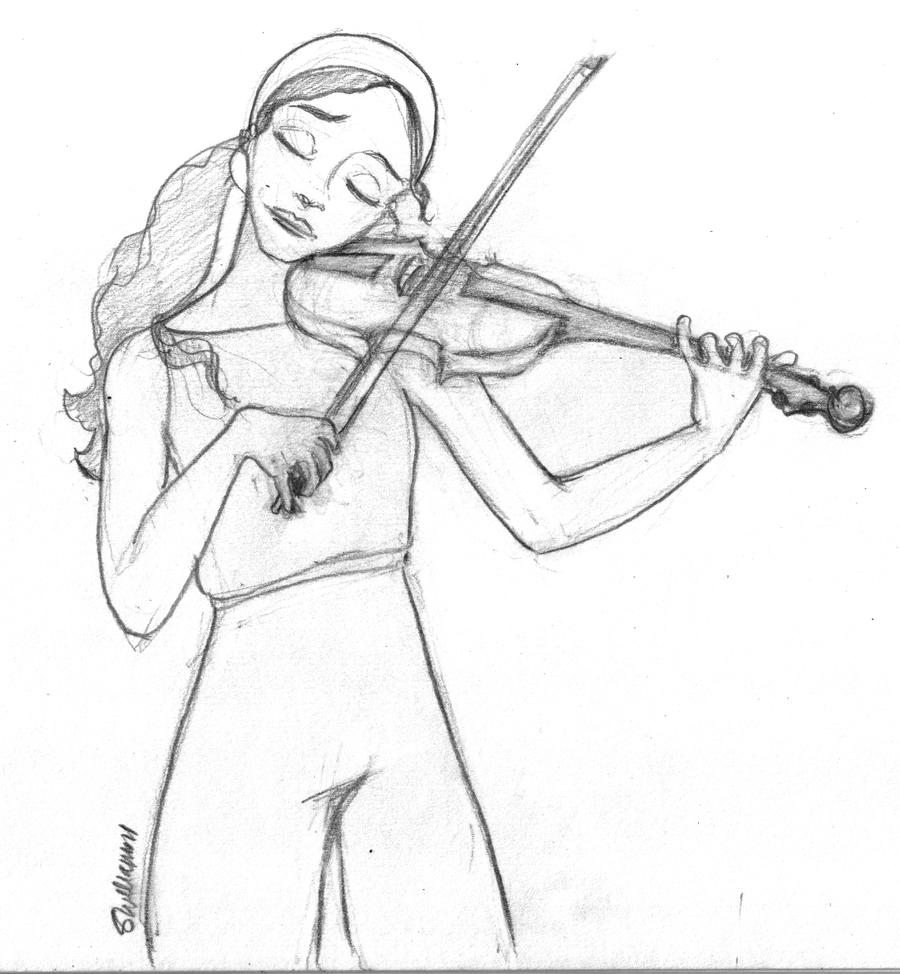 Fire - Playing the Violin by leabharlann on DeviantArt for Girl Holding Fire Drawing  76uhy