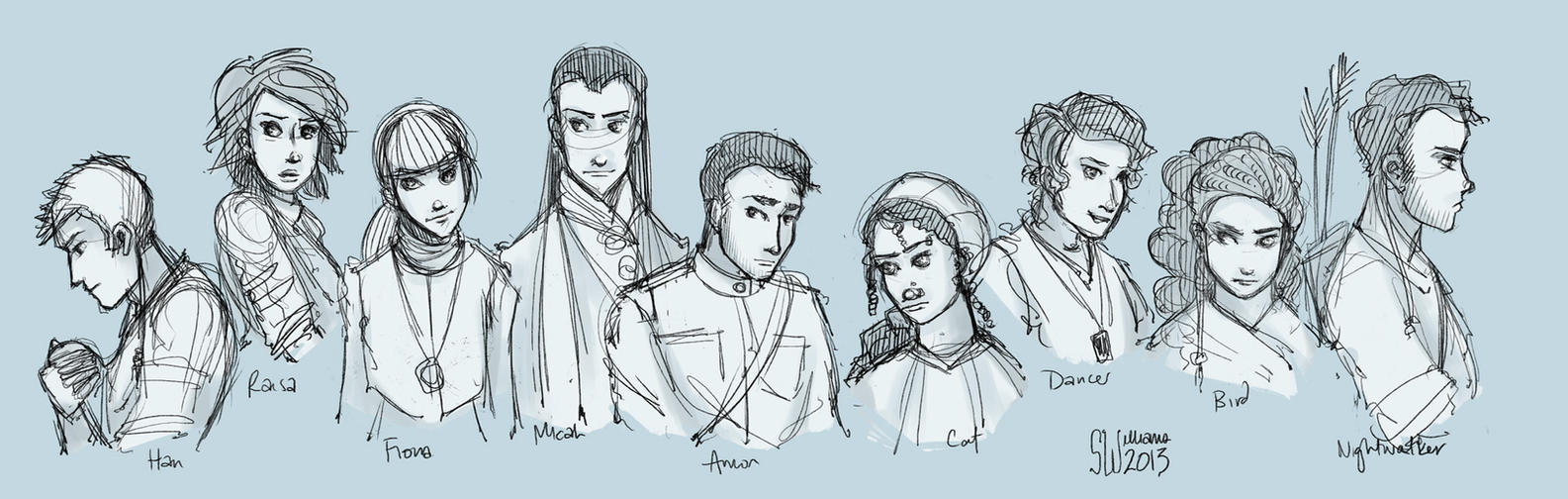 Exiled Queen - Sketch Dump by leabharlann