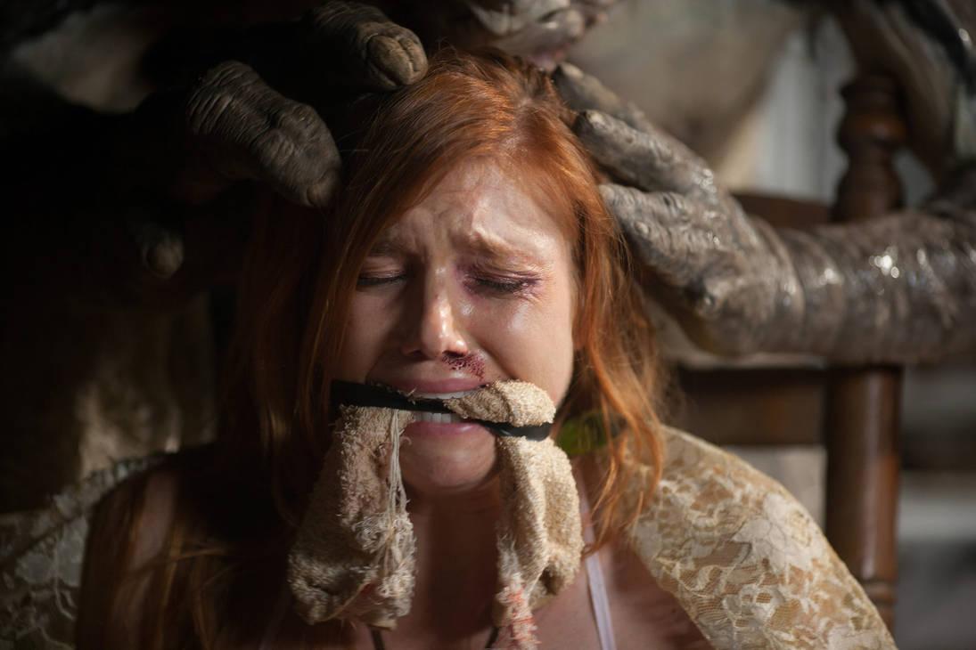 Lauren Schneider gagged Creature 2011 by mileshendon