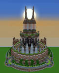Minecraft Build 3 - Ornamented Tower by haikuo