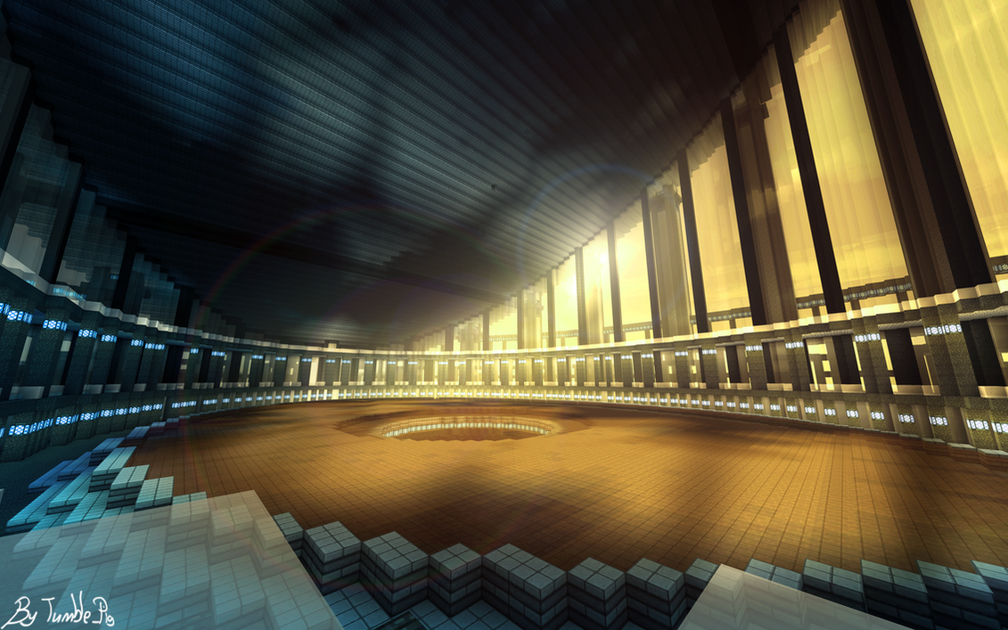 Minecraft centrium 20130409 city view at night by yazur