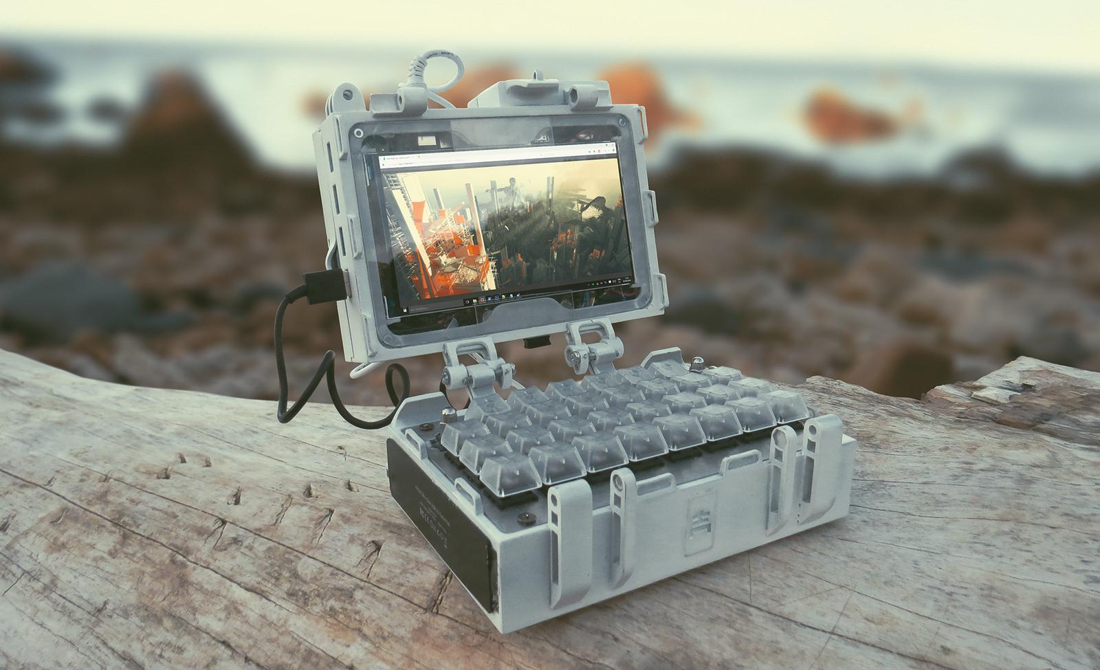 Digital Sketchbook - handheld laptop build by haikuo