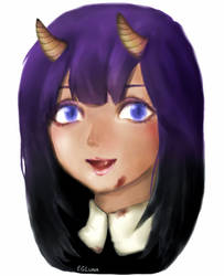 Human/Demon/Vampire Girl Portrait (Mouse Painting)