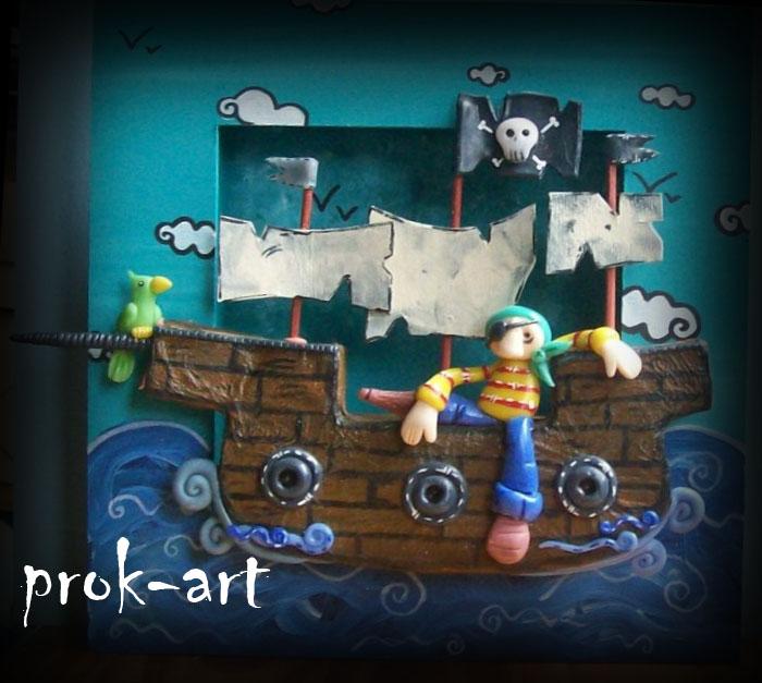 pirate ship by prok-art