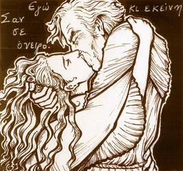 Claude Frollo + Esmeralda by ElenaTria