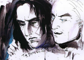 Snape and Lucius:  nowhere... by ElenaTria