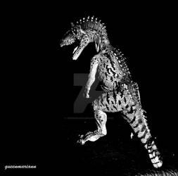 Cryolophosaurus Black And White Wallpaper
