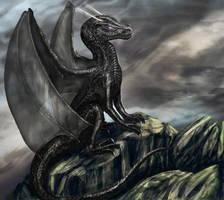 -Contest- Obsidian Stardragon by OrmIrian