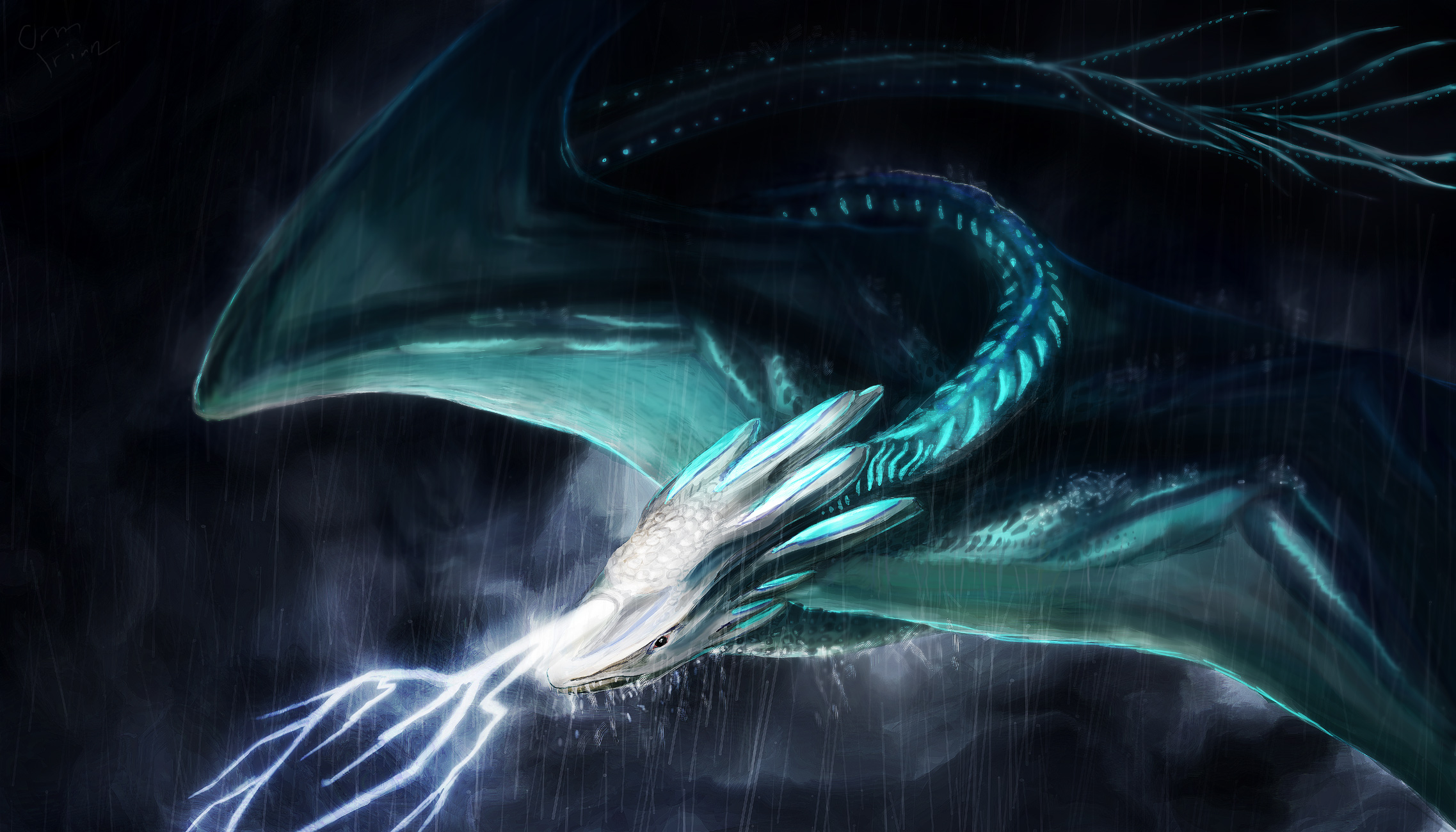 Storm Dragon by OrmIrian