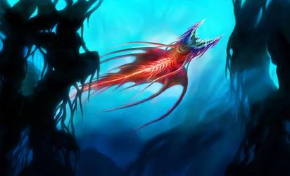 Red Thunderfish aka The DEADLY Rainbow by OrmIrian