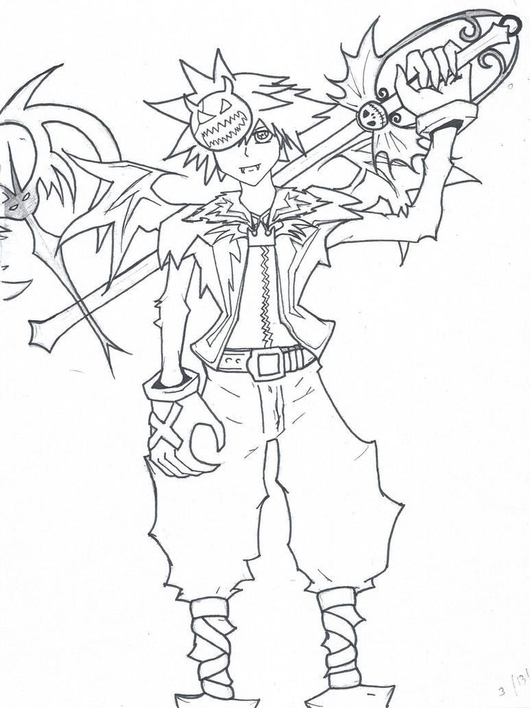halloween town sora almost done by lisca on deviantart