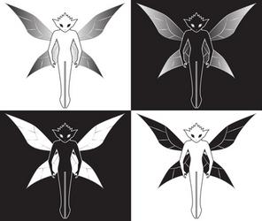 Fairy: Black/White