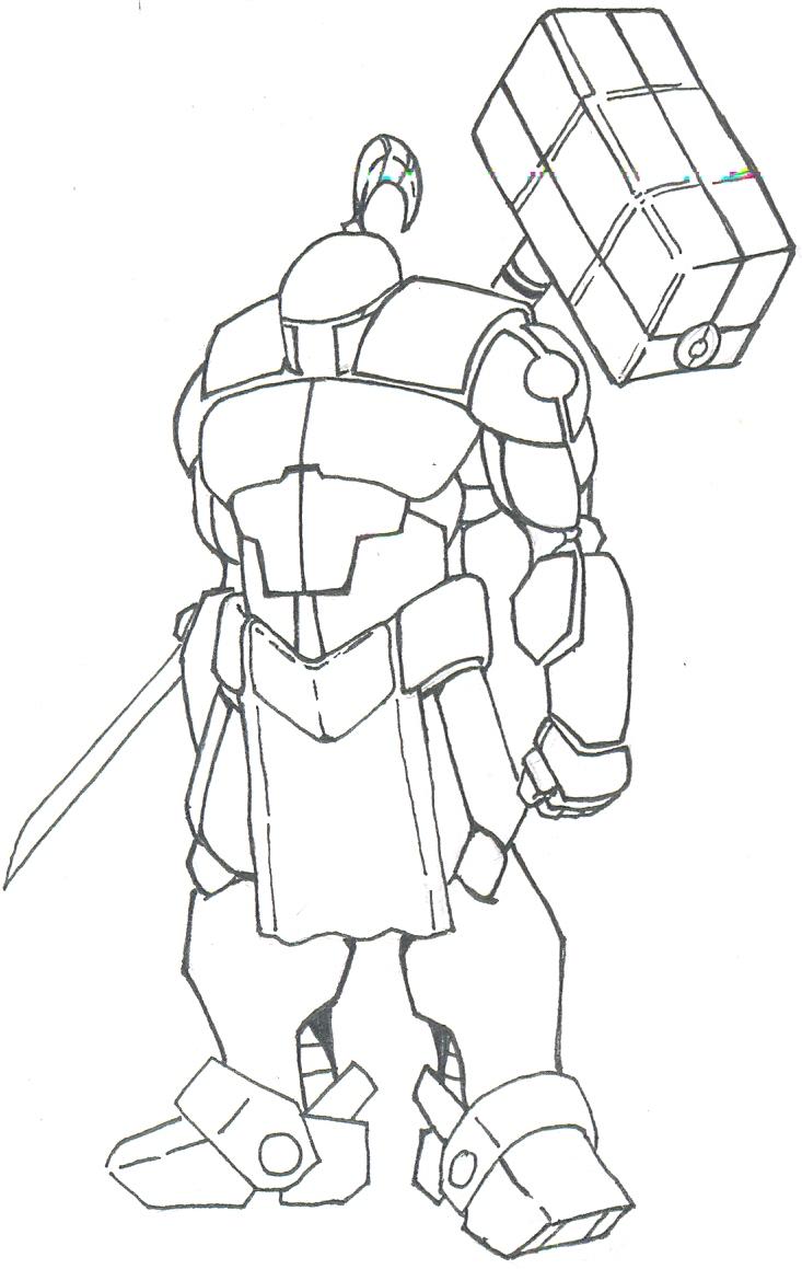Robotic suit form 'BLAZE' by titan9393
