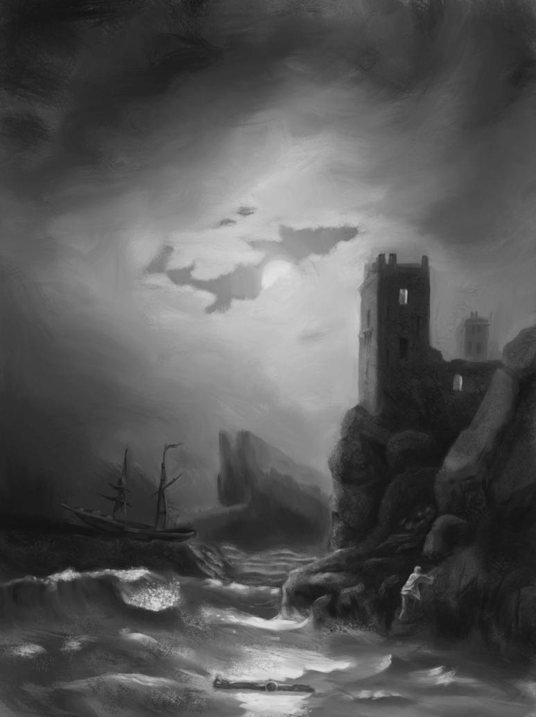Ivan Aivazovsky's Tower Shipwreck by ExiledSeraph6