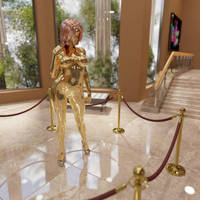 Golden Alli on display at the museum by AlliDee