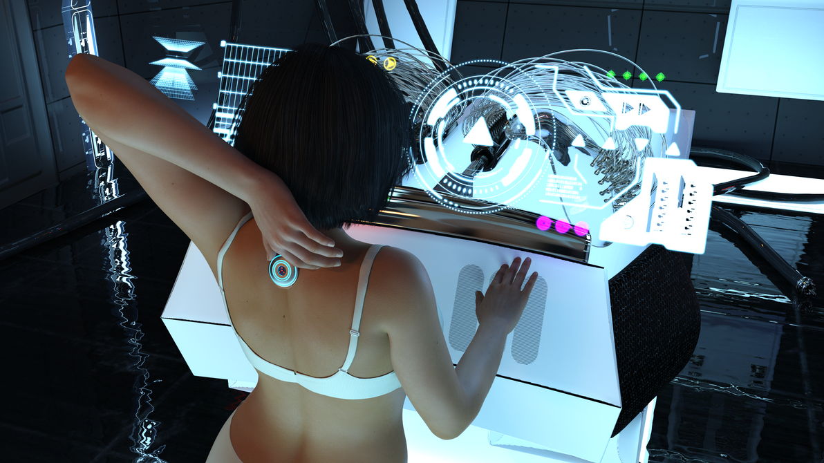Alli at the lab 2 - discovering the implant by AlliDee on DeviantArt
