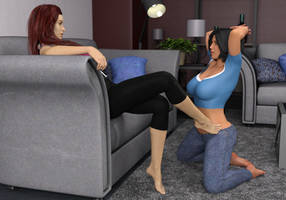 Dove trancing Alli part 3 - triggered to kneel by AlliDee