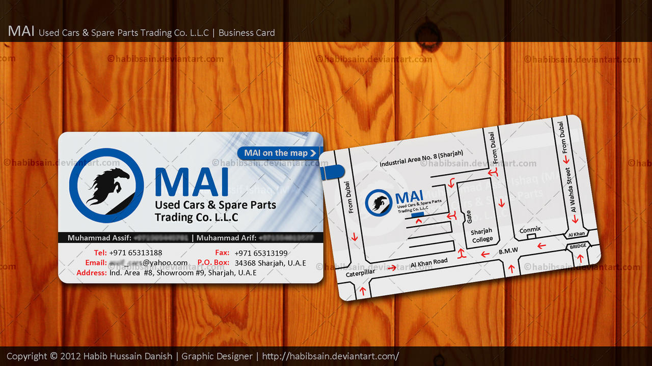 MAI Trading Co. LLC | Business Card by habibsain on DeviantArt
