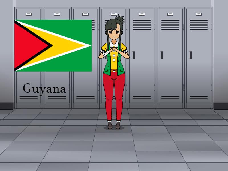 Kisakae Girls Around the World - Guyana by Nemoleegreen343