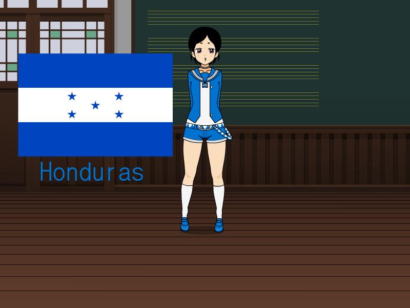 Kisakae Girls Around the World - Honduras by Nemoleegreen343