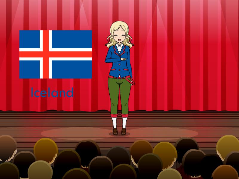 Kisakae Girls Around the World - Iceland by Nemoleegreen343